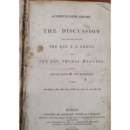 57 - The discussion between Rev T D Gregg & Rev Thomas Maguire in the round room at the Rotundo on 29th M...