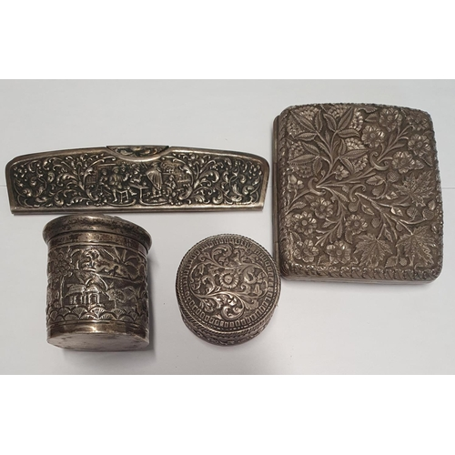 30 - A quantity of Indian Items , probably Silver....