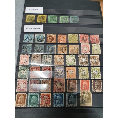 108 - A really good stock book of Stamps, German states up to 1940's....