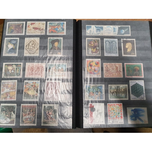 109 - A stock book of French and Belgium Stamps....