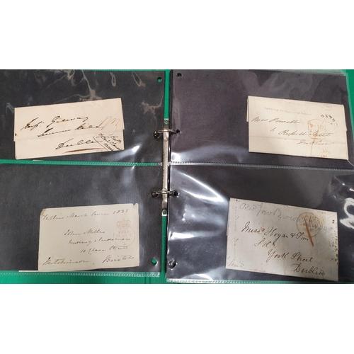 110 - A folder of Irish postal history in the 1800's...