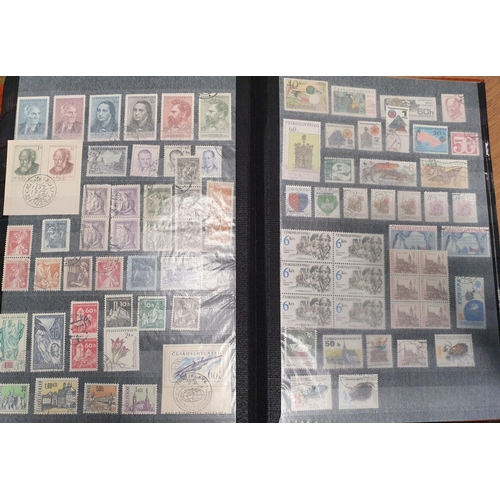 112 - A full stock book of Central Europe Stamps....