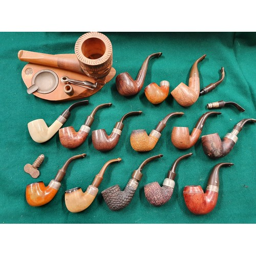 51 - A good quantity of Pipes to include a quantity of Irish sliver ferrel examples from Petersons of Dub...