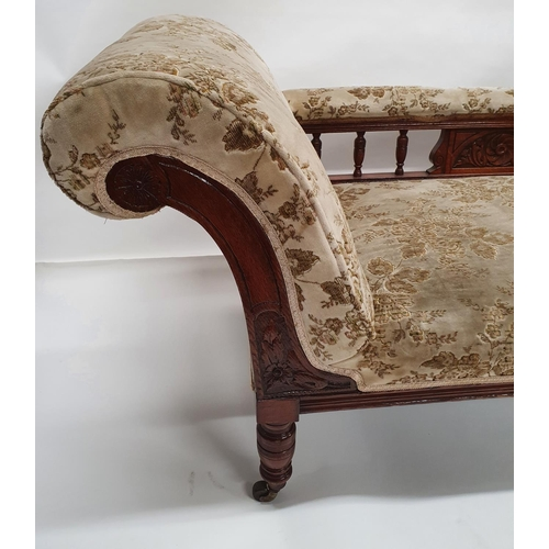 13 - A late 19th Century Chaise Lounge.L 180 X W 70 cms....