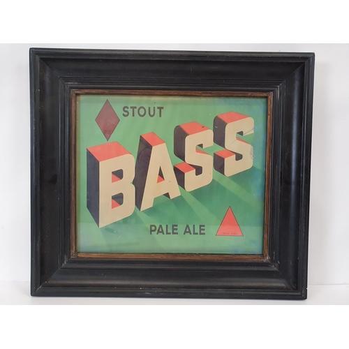 39 - A Bass Stout Advertisement. 52 X 47 cms....
