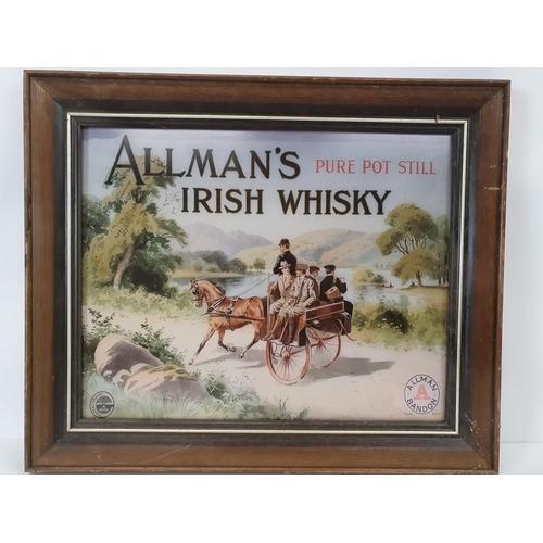 41 - Allman's Rare Pot Still Irish Whiskey advertisement.(framed)....