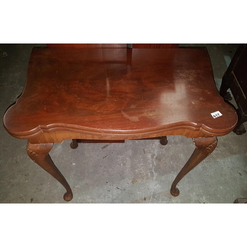 56 - An early 20th Century foldover Card Table.W 77cms,along with A good Regency Mahogany Side Table with...