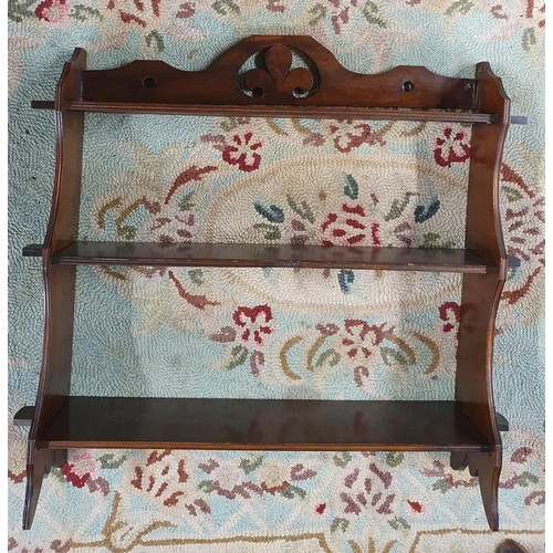 32 - A set of 19th century Mahogany Wall Shelves. W 60 X H 59 cms....