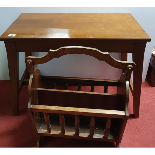 44 - A 20th Century Mahogany Music Table/seat with lift up lid along with a Canterbury/magazine rack...
