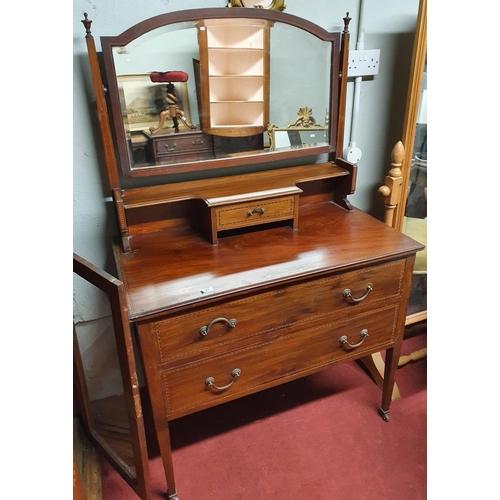 47 - An Edwardian Mahogany Dressing table.W 91 X D  48 X H 77 cms....