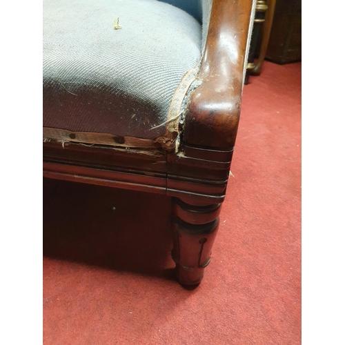 48 - A good Late Regency Mahogany show frame Tub Chair....