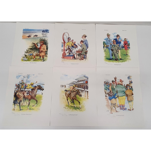 819 - A good set set of six signed Peter Curling limited edition coloured Prints.Size 29 X 37 cms.