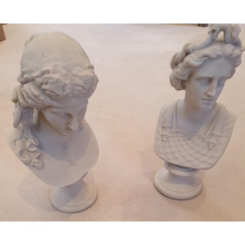 152 - A good pair of Parian Ware Figures.