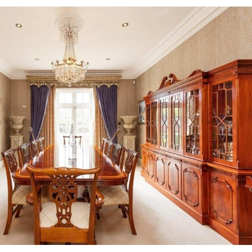32 - A most fantastic Mahogany Dining Room Suite in the Georgian style consisting of a Mahogany and cross...