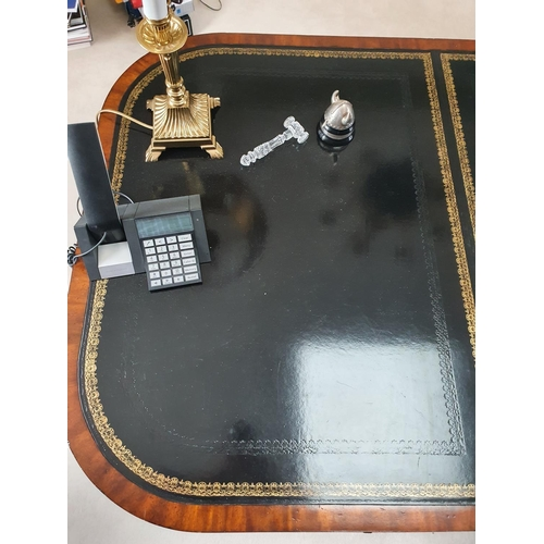153 - A Superb Regency/William 1Vth style Mahogany and Veneered Partners Desk by Maitland & Smith, London,...