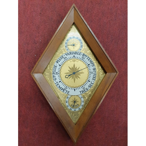 18 - An unusual Quartz Clock/Barometer(w 25 x h 40 cms approx) along with a good box lot of items.