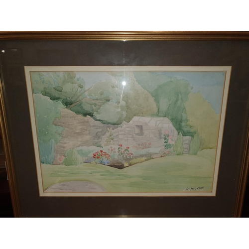 36 - A 20th Century Watercolour of a seascape signed indistinctively LR along with another Watercolour of...