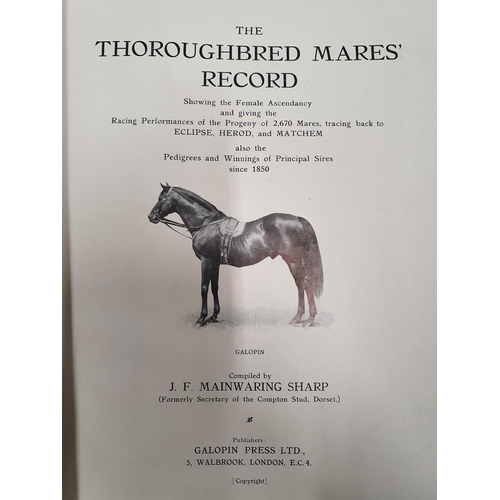 39 - The Thoroughbred Mares Record 1850-1928 by J.F Mainwaring Sharp along with Europe's Natural Heritage...