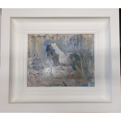 43 - Con Campbell 'Cob'. An Oil On Board. Framed size 40 x 35 cms approx.