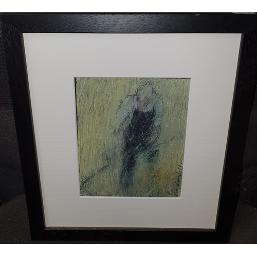 45 - Con Campbell 'Making Hay'. An Oil On Board. Framed size 33 x 30 cms approx.