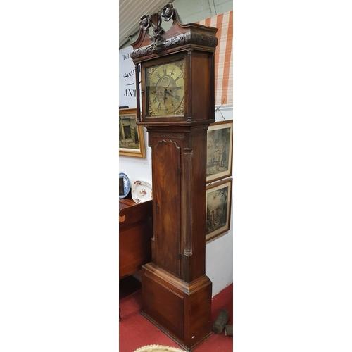 24 - A really good early 19th Century Mahogany Irish brass dial Longcase Clock by Alex Gordon of Dublin w...