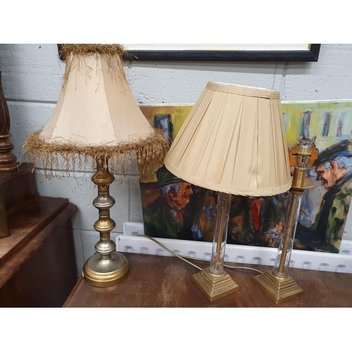 13 - A good group of Table Lamps to include a pair from Marks and Spencers.