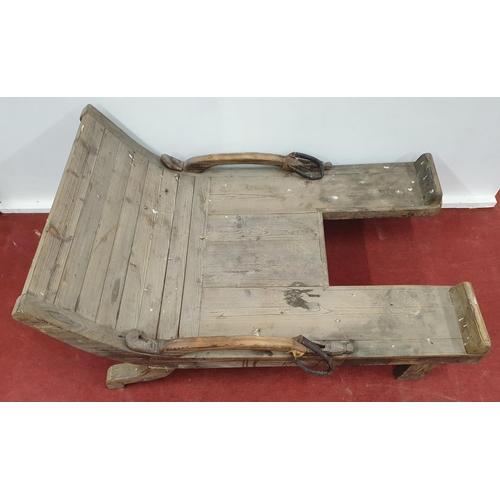 509 - Kattegat Vikings Birthing Table. 92W x 140D x 30H cms approx.