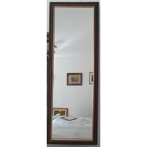 5 - Two Wall mirrors. 105 x 37cm and 56 x 71cm approx.