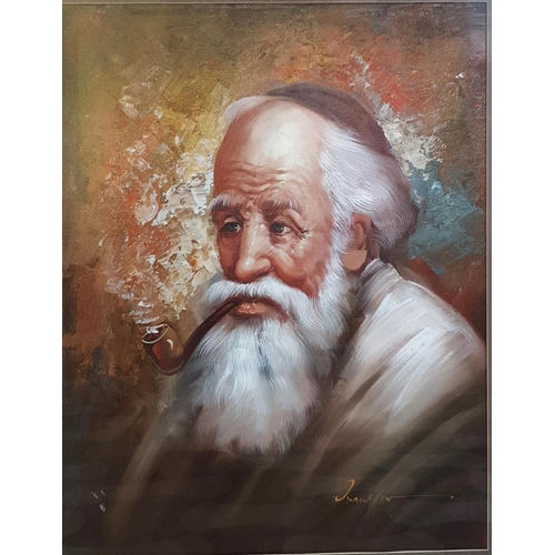 23 - An Oil on Board of an Elderly Gentleman. Indistinctly signed LR.