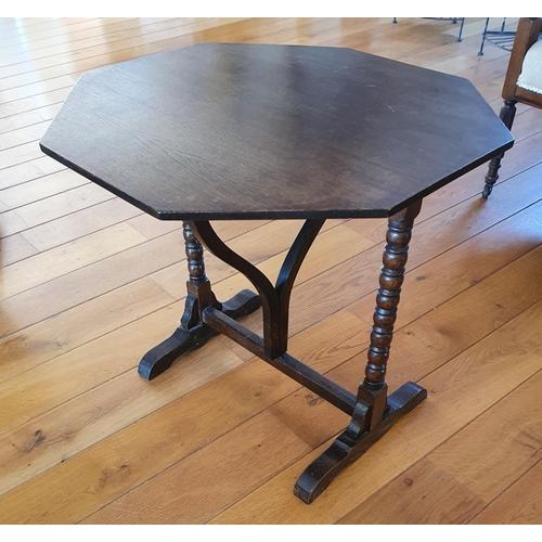 52 - A late Oak Folding Table.