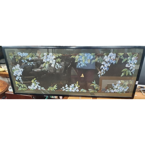 31 - A good Mixed Media Panel with still life of a butterfly and flowers along with a still life watercol...
