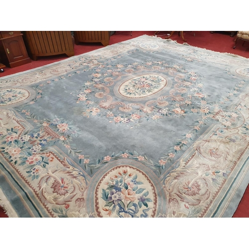 51 - A large Chinese Rug. W 369 x 470 cm approx.