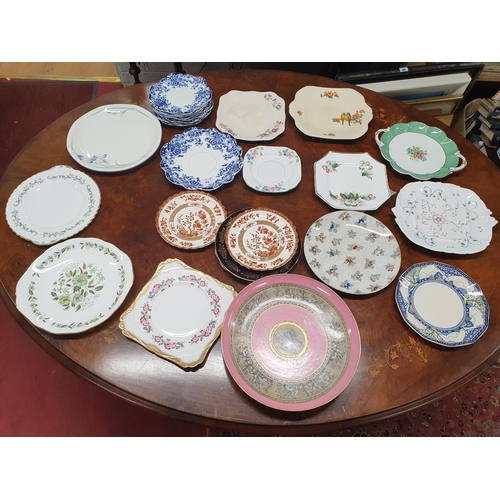 24 - A good quantity of Cake Plates of various makers and designs.