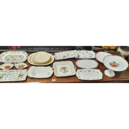 36 - A large quantity of 19th Century and later Cake Plates.