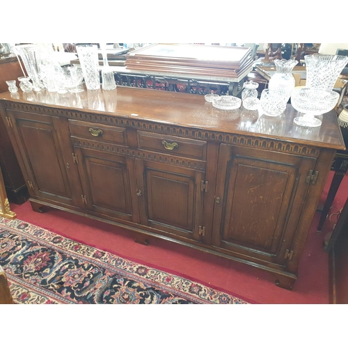 39 - A really good Oak Old Charm four door Side Cabinet. W 191 x D 51 x H 88 cm approx.