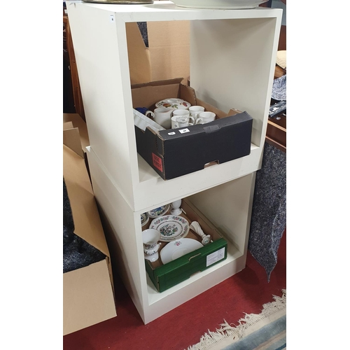44 - A pair of Painted Side Tables. 60 x 60 x H 65 cm approx.