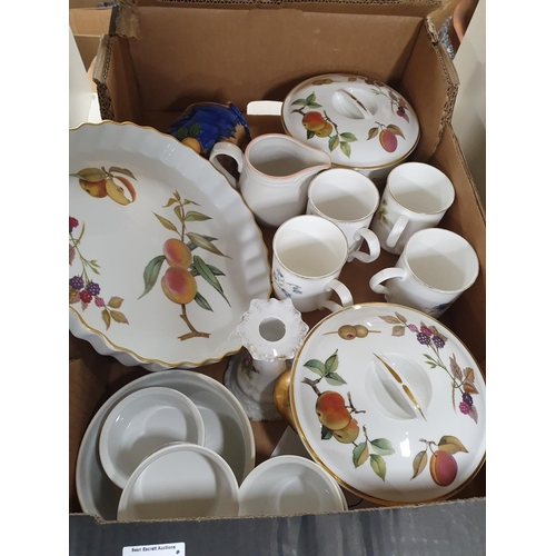 45 - A good quantity of Worcester Evesham pattern Dinnerwares along with Masons, Belleek and other items.