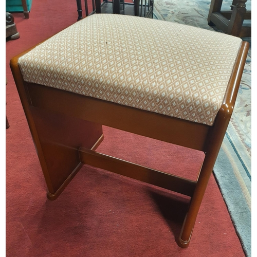 48 - A very good Mid Century style Piano Stool. 45 x 34 x H 47 cm approx.