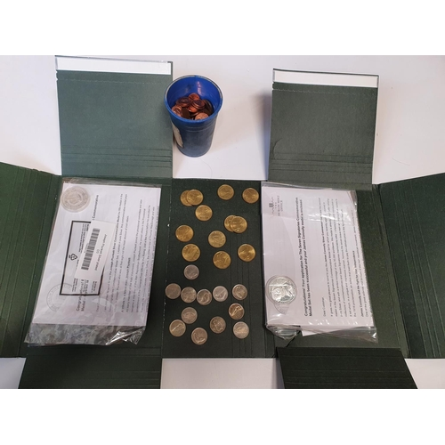 14 - A quantity of mint Millennium 20p and 10p Coins along with two Dublin Mint Coins.