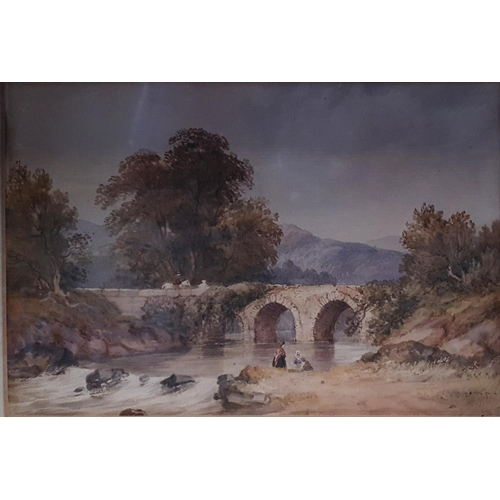 23 - Alfred William Hunt 1830-1896. A pair of 19th Century Watercolours of country scenes one possibly th...