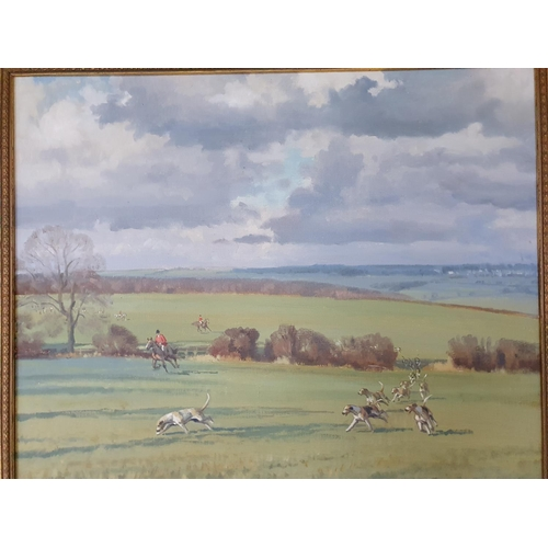 36 - Neil Cawthorne b1936 .A pair of 20th Century Oils of The Cottesmore Fox Hounds.  Signed and dated LL...