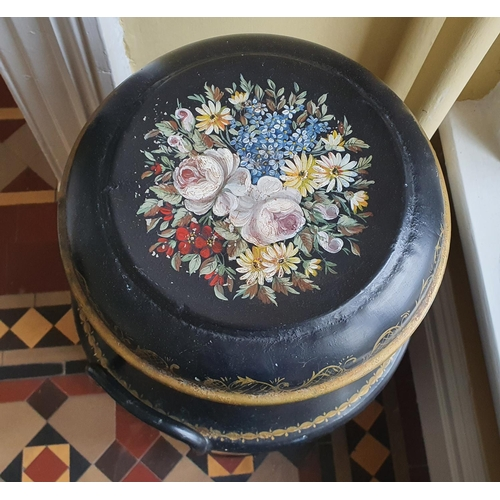 37 - A lovely pair of early 20th Century Chinoiserie painted miniature Churns. H 72cm approx.