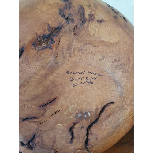 19 - A carved Oak Knot by Emmet Kane, signed and dated 95 underneath. (Emmet Kane made items for The Vati...
