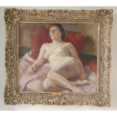 29 - Attributed to Roderic O'Conor. An Oil on Canvas 'Reclining Nude'. 54.5 x62cm approx.