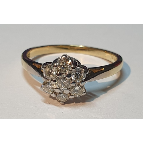 16 - An 18ct gold brilliant-cut diamond single-stone ring. Total diamond weight 0.50ct, stamped to band. ...