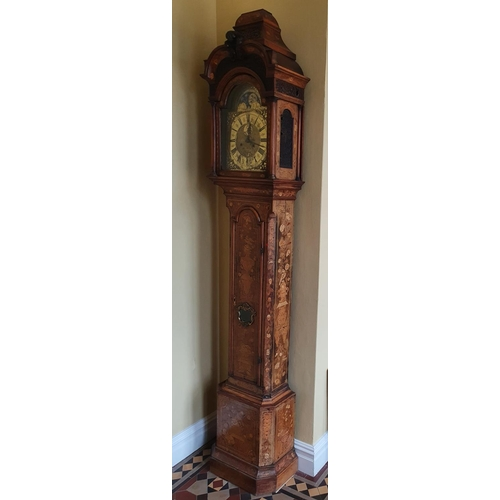 38 - A very important Walnut and Marquetry Inlay Longcase Clock by Anthonij van Oostrom of Amsterdam, wit...