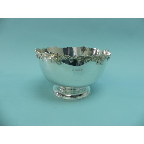 47 - An Elizabeth II silver Punch Bowl, by Courtman Silver Ltd., hallmarked London 1976, of plain circula...