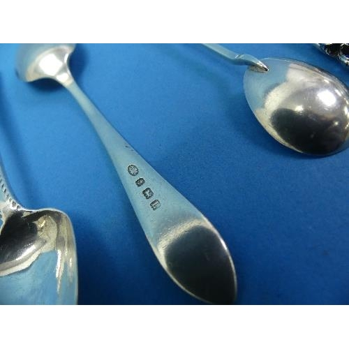 10 - A quantity of silver Flatware, including a Diamond Jubilee commemorative child's spoon and fork, Lon...