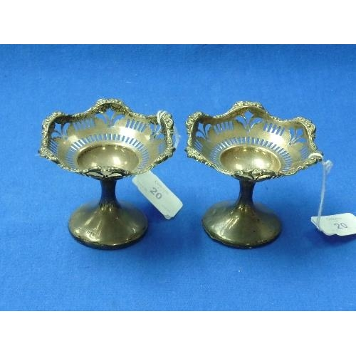 20 - A pair of George V silver Bon Bon Dishes, by S Blanckensee & Son Ltd., hallmarked Chester, 1910 / 19...