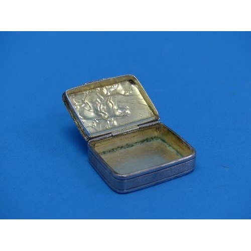 30 - A George VI silver Snuff Box, by James Dixon & Sons Ltd., hallmarked Sheffield, 1938, of rounded rec...